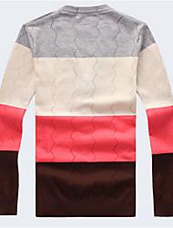 Cardigan Uomo Casual A quadri Standard Manica lunga Cotone
