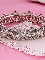 Mulheres Strass Liga Imitação de Pérola Capacete-Casamento Ocasião Especial Ao ar Livre Tiaras 1 Peça