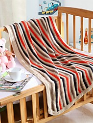 "Multicolor Strip Pattern Knitted Blanket Full Cotton 33""*43"""