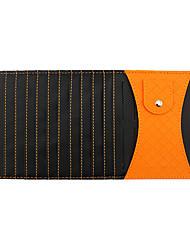 multifonctionnel voiture cd pince paquet support pare-soleil de stockage du véhicule d'agneau de carbone