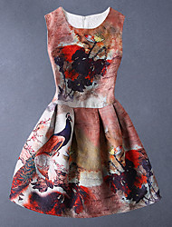 Robe Fille de Eté Coton Marron