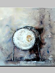 lager Hand abstrakte Trommel Ölgemälde auf Leinwand Wandkunst Bild gemalt für Zuhause Whit Rahmen bereit 100x100cm zu hängen