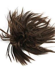 perruque brune 10cm haute température de couleur fil fleur bourgeon 2/30