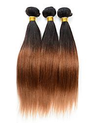 Âmbar Cabelo Peruviano Retas 6 meses 3 Peças tece cabelo
