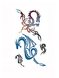 1pcs Tattoo Sticker Dragon Pattern Waterproof Temporary Tattooing Paper Body Art Paper Art