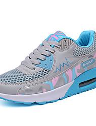 Damen-Sneaker-Outddor Büro Lässig-Tüll-Plateau Creepers-Komfort-Blau Rosa Weiß