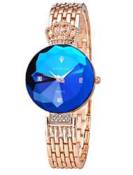 Damen Kleideruhr Modeuhr Quartz Armbanduhren für den Alltag Legierung Band Vintage Silber Gold Rose Silber Wein Golden