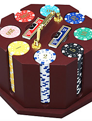 240 Pieces Of Wooden Chips Suit Poker Chips Dedicated Game Poker