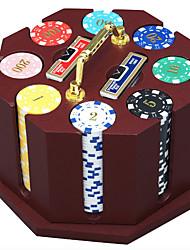 240 morceaux de jetons de poker en bois puces costume dédiés jeu poker