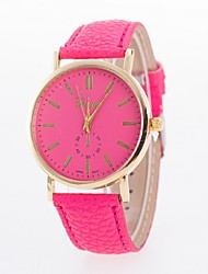 relógio simples correia de couro de moda monocular relógio de quartzo das senhoras