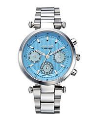 Mulheres Relógio de Moda Quartz Luminoso Aço Inoxidável Banda Prata marca