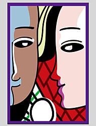 Abstract People Canvas Material Oil Paintings with Stretched Frame Ready To Hang Size 90*60CM