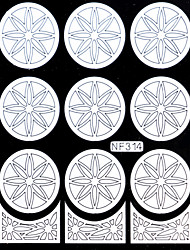 Nail Art Template Sticker-(NF314-WHITE)