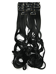 Length Deep Black 60CM High Temperature Wire Wig Hair Extension Synthetic Hair