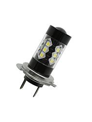 2 x 80w h7 3535 smd conduit brouillard queue conduite ampoule de phare de voiture super blanc lumineux