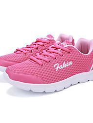 laufende Schuhe der Frauen Tüll flache Ferse Komfort Wohnungen sportlich schwarz / blau / rosa / grau