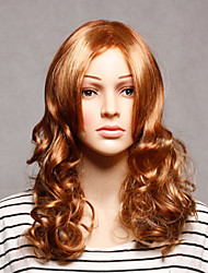 Capless Long Synthetic Brown Wavy Synthetic Womens Wigs