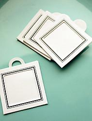 12pcs diy obrigado tag, tag foto (1,5 x 1,5 polegadas) presentes da festa de casamento materiais acessórios beter-zh037