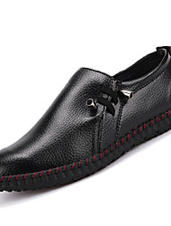 Men's Shoes Casual Leather Loafers Black / Brown / White