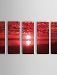 Ручная роспись Пейзаж Modern,5 панелей Hang-роспись маслом