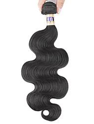 """1 pc / lot 12 """"-30"""" 6a malaysische reine Haarkörperwellen-Menschenhaareinschlagfäden 100% unverarbeitetes malaysischer remy Haar spinnt"""