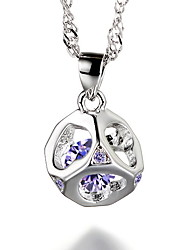 925 Sterling Silver Necklace Love Wish Women's Wedding Jewelry