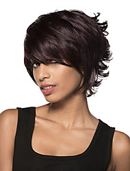 Stunning Short Curling Remy Human Hair Hand Tied -Top Wig for Woman's