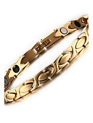 Women's Jewelry Health Care Gold Stainless Steel Magnetic Therapy Bracelet Fashion Gift