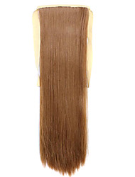 Wig Brown 60CM High-Temperature Wire Strap Style Pony Tail Straight Hair Wig Colour 27