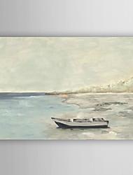 pintados à mão paisagem pintura a óleo do mar de tranquilidade, com quadro esticado arts® 7 parede