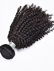 "1pcs / lot 12 ""-24"" natural del pelo virginal rizado pelo rizado negro brasileño prima humano teje venta"