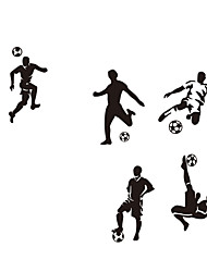 5 Football Footballers sport wall art vinyl boys bedroom wall decal kids wall sticker home decor