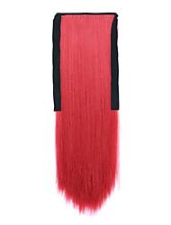 longue prêle perruque de cheveux raides rouge longueur 60cm type de liaison synthétique (couleur de 130m)