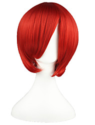 Cosplay Wigs Vocaloid Akaito Red Short Anime Cosplay Wigs 35 CM Heat Resistant Fiber Male / Female