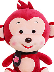 Fubao mono mono mascota del zodiaco del mono de marionetas muñeca segura 30cm juguetes de peluche de vino tinto