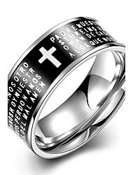 Anéis Fashion Casamento / Pesta / Diário / Casual Jóias Aço Titânio Masculino Anéis Statement 1pç,7 / 8 / 9 / 10Preto / Azul / Verde /