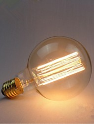 E27 AC220-240V 40W Silk Carbon Filament Incandescent Light Bulbs G95 Around Pearl