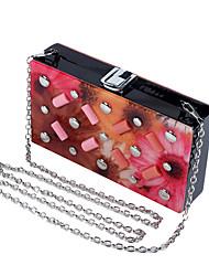L.WEST Women's Acrylic Evening Bag