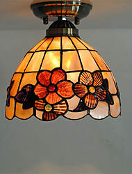 8 inch Retro Tiffany Ceiling Lamp /Shell Shade Flush Mount Living Room Dining Room light Fixture