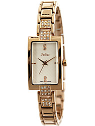 Julius® Korea Women Watch  Square-shaped Design Rhinestone Stainless Steel Quartz Watch JA-640
