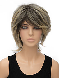 Fashion Natural Blonde Color Short Straight Synthetic Wig