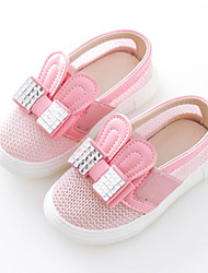 Girls' Shoes Dress / Casual Comfort Tulle Loafers Pink / Silver / Gold