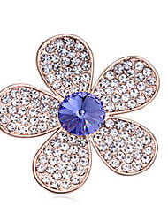 High Quality Crystal Flower Brooch for Wedding Party Lady