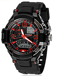Men's Analog- Digital Water-resisstant Multi-Functional Dual Time Zones Sports Watch Wrist Watch Cool Watch Unique Watch