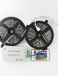 z®zdm 2x5m 144W 600x5050 rgb smd led strip lampe contrôleur ligne de signal 1bin2 IR24 de fer (DC12V 12a)