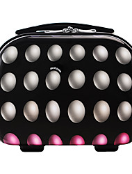 DAVIDJONES Women's Fashion Casual Multifunctional Cosmetic Makeup Bag Storage Tote Organizer-Black