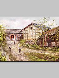 mão grande pintura abstrata pintura a óleo da paisagem na lona para sala de estar retrato da arte da parede pronto para pendurar 90x120cm