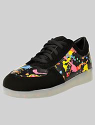 женская обувь водить USB зарядка моды кроссовки на открытом воздухе / спортивная / вскользь черный