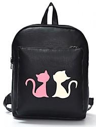 Women Casual PU Zipper Backpack