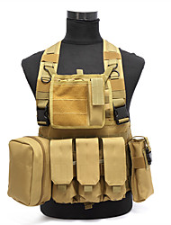 Molle Tactical Vest Airsoft Paintball Combat Vest W/Magazine Pouch+Utility Bag Releasable Armor Carrier Vest